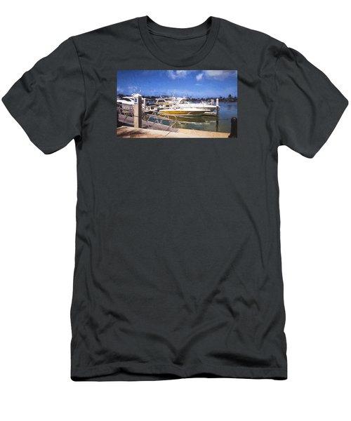 Naples Dock Men's T-Shirt (Slim Fit) by Rena Trepanier