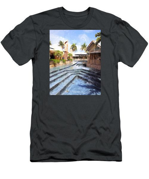 Naples Falls Shopping  Men's T-Shirt (Slim Fit) by Rena Trepanier