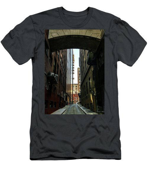 Narrow Streets Of Cobble Stone Men's T-Shirt (Slim Fit) by Bruce Carpenter