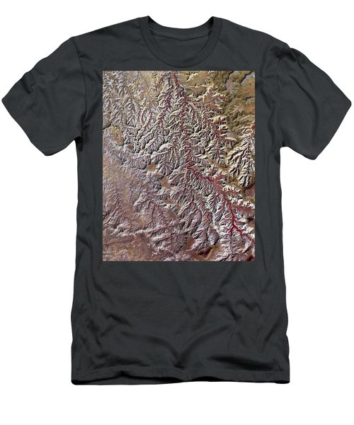 Nasa Image-canyonlands National Park, Utah-2 Men's T-Shirt (Athletic Fit)