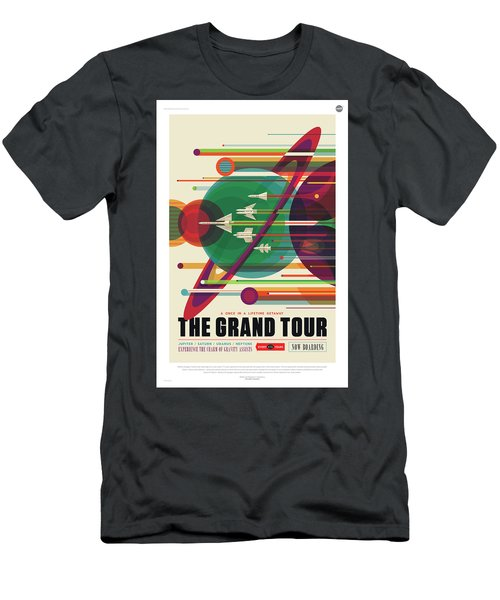 Nasa The Grand Tour Poster Art Visions Of The Future Men's T-Shirt (Athletic Fit)