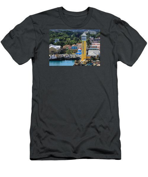 Men's T-Shirt (Slim Fit) featuring the photograph Nassau Bahamas by Coby Cooper