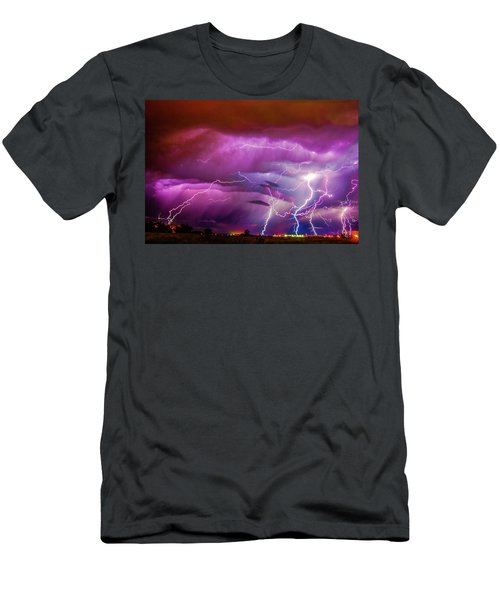 Nasty But Awesome Late Night Lightning 008 Men's T-Shirt (Athletic Fit)