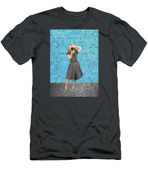 Men's T-Shirt (Slim Fit) featuring the digital art Natalie by Nancy Levan