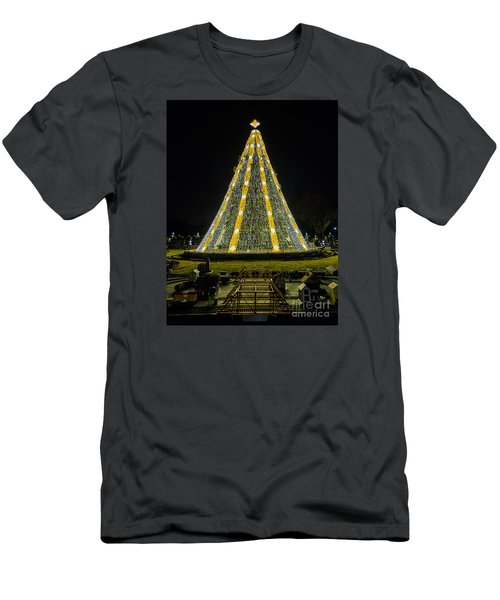 Men's T-Shirt (Slim Fit) featuring the photograph National Christmas Tree #2 by Sandy Molinaro