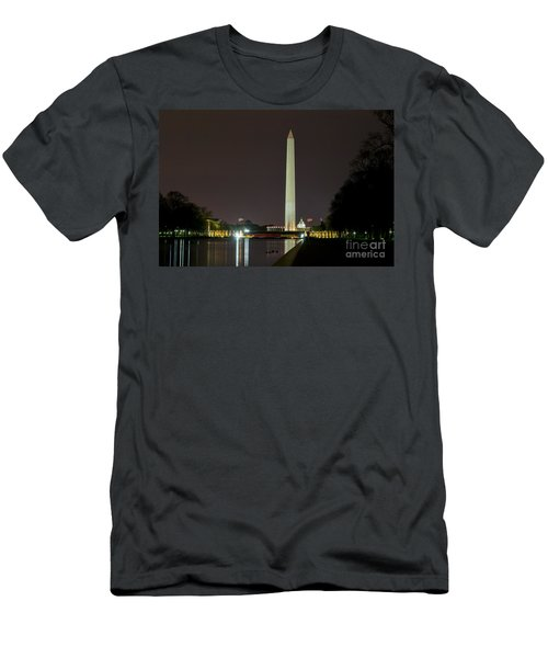 Men's T-Shirt (Athletic Fit) featuring the photograph National Mall At Night by Angela DeFrias