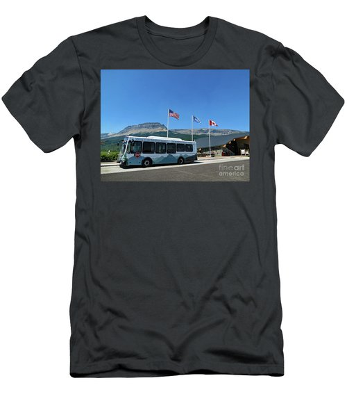 Men's T-Shirt (Athletic Fit) featuring the photograph National Parks. St. Mary Visitor Center At Glacier by Ausra Huntington nee Paulauskaite