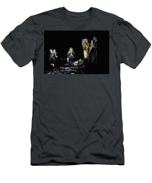 Nativity Scene Men's T-Shirt (Athletic Fit)