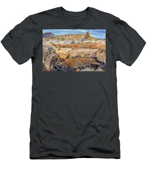 Natural Bridge At Lava Beds Men's T-Shirt (Athletic Fit)