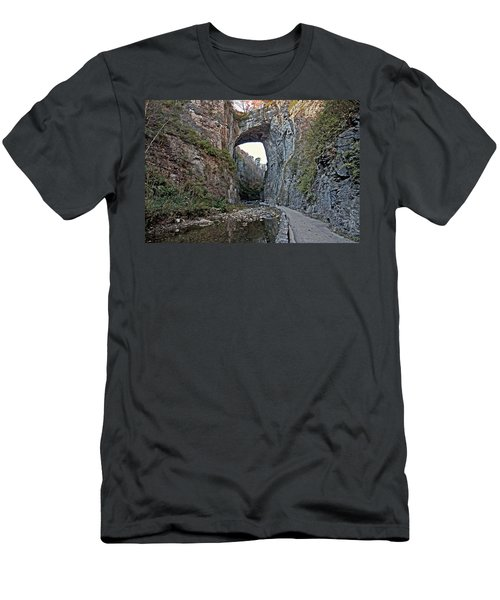 Men's T-Shirt (Slim Fit) featuring the photograph Natural Bridge Virginia by Suzanne Stout