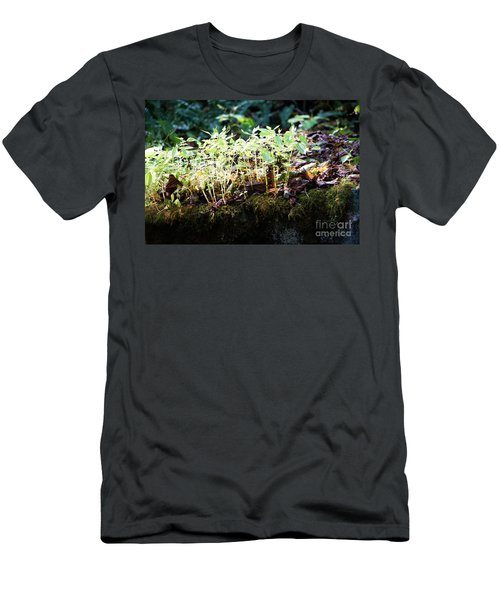 Nature Finds A Way Men's T-Shirt (Slim Fit) by Rebecca Davis
