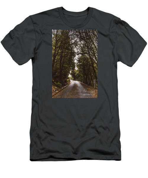 Men's T-Shirt (Athletic Fit) featuring the photograph Nature Landscape Photo Of A Scenic Mountain Road by Jorgo Photography - Wall Art Gallery