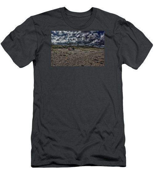 Nature Playing To An Empty Beach Men's T-Shirt (Slim Fit) by Constantine Gregory
