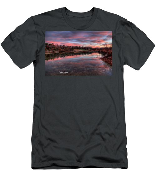 Nature Reserve Reflections Men's T-Shirt (Slim Fit) by John Loreaux