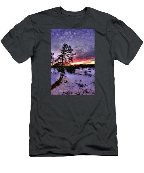 Nature Reserve Snowset Men's T-Shirt (Slim Fit) by John Loreaux
