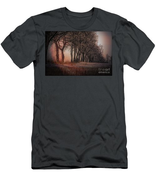 Nature Winter Bare Trees Color  Men's T-Shirt (Athletic Fit)