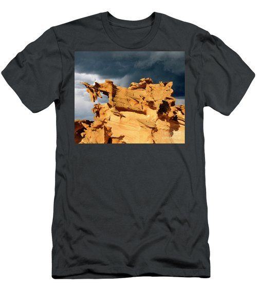 Men's T-Shirt (Slim Fit) featuring the photograph Nature's Artistry Nevada 3 by Bob Christopher