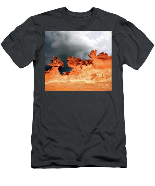 Men's T-Shirt (Slim Fit) featuring the photograph Nature's Artistry Nevada by Bob Christopher