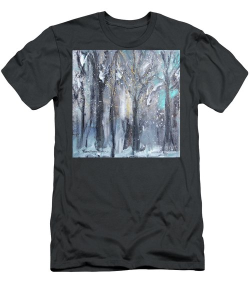 Men's T-Shirt (Athletic Fit) featuring the painting Nature's Cathedral by Robin Maria Pedrero