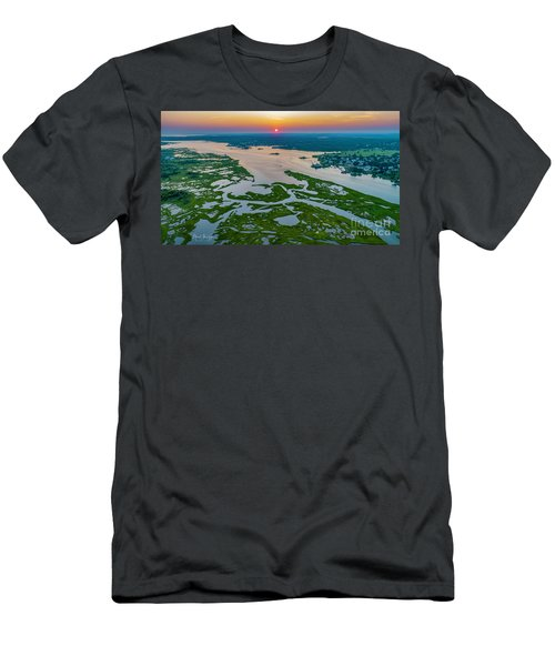Men's T-Shirt (Athletic Fit) featuring the photograph Natures Hidden Lines by Michael Hughes