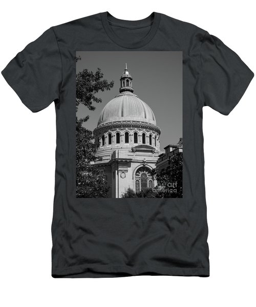 Naval Academy Chapel - Black And White Men's T-Shirt (Athletic Fit)