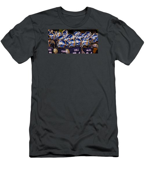 Navy Sea Of Helmets Men's T-Shirt (Athletic Fit)