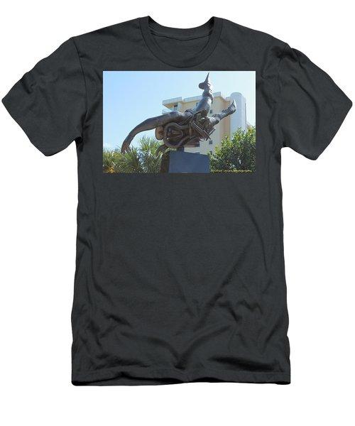 Navy Seal Men's T-Shirt (Slim Fit) by Nance Larson