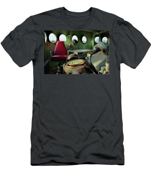 Nc Battleship Bridge Men's T-Shirt (Slim Fit) by Denis Lemay