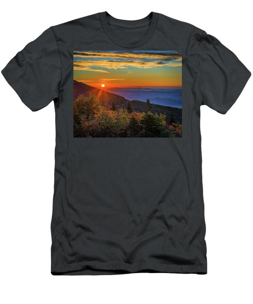 Nc Mountain Sunrise Blue Ridge Mountains Men's T-Shirt (Athletic Fit)