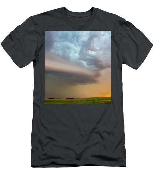 Nebraska Thunderstorm Eye Candy 006 Men's T-Shirt (Athletic Fit)