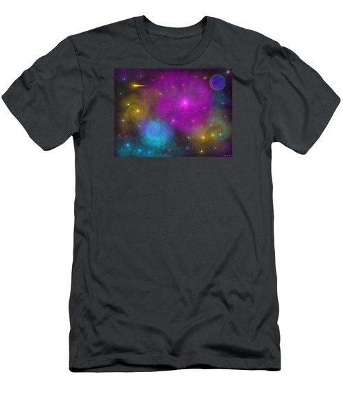 Men's T-Shirt (Slim Fit) featuring the photograph Nebula Wars by Bernd Hau