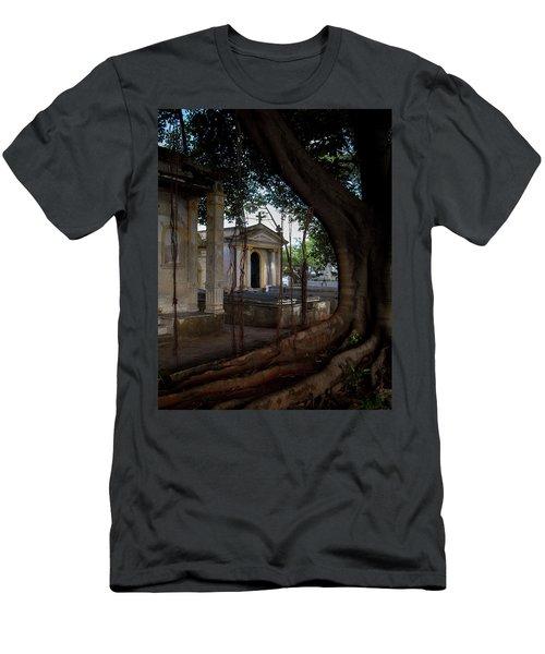Necropolis Cristobal Colon Havana Cuba Cemetery Men's T-Shirt (Slim Fit) by Charles Harden