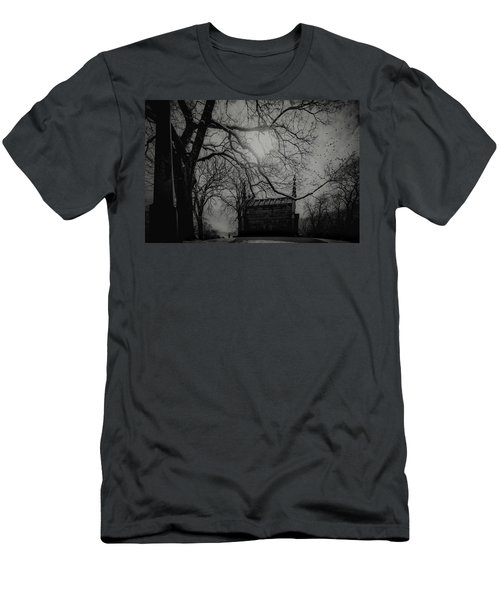 Men's T-Shirt (Athletic Fit) featuring the digital art Necropolis Nine by Chris Lord
