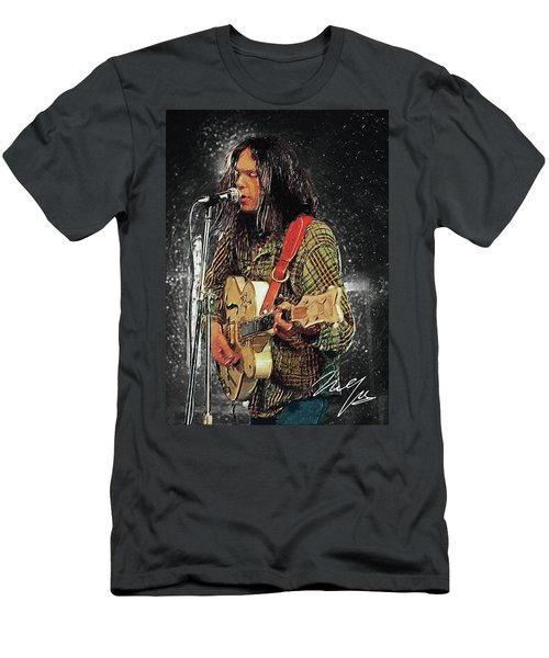 Neil Young Men's T-Shirt (Slim Fit) by Taylan Apukovska