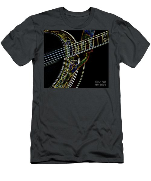 Men's T-Shirt (Slim Fit) featuring the photograph Neon Banjo  by Wilma Birdwell