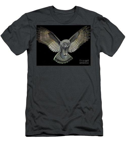 Neon Owl Men's T-Shirt (Slim Fit) by Rand Herron