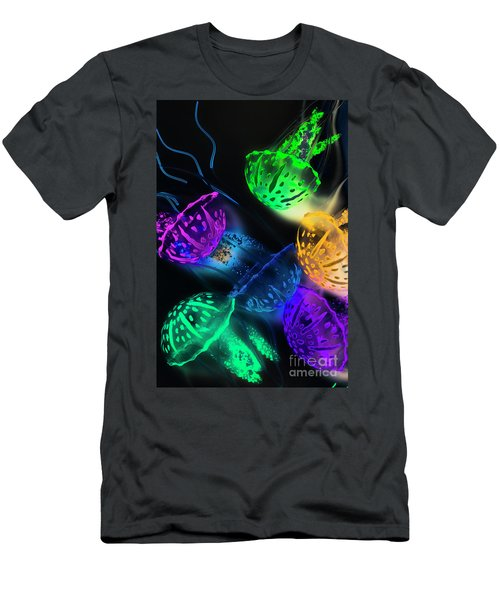 Neon Sea Life Men's T-Shirt (Athletic Fit)