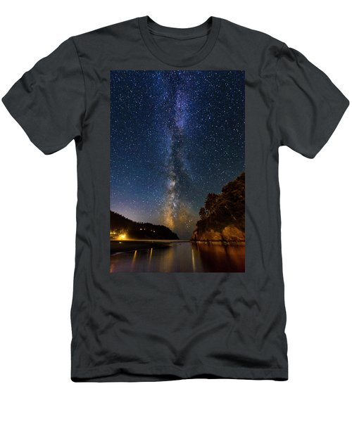 Neskowin Milky Way Men's T-Shirt (Athletic Fit)