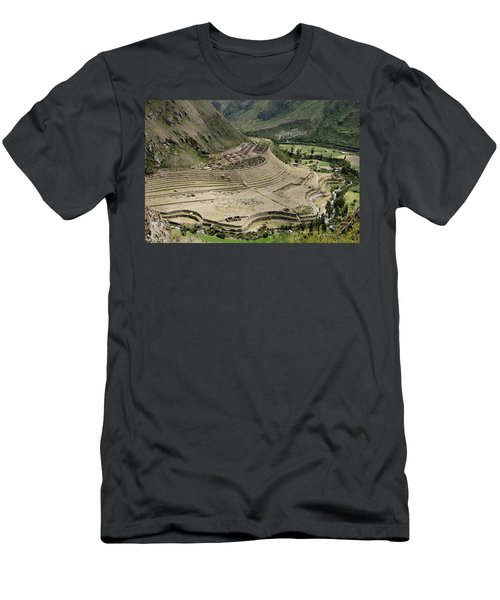 Nestled At The Foot Of A Mountain Men's T-Shirt (Athletic Fit)