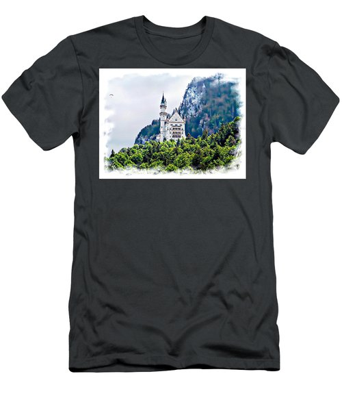 Men's T-Shirt (Slim Fit) featuring the photograph Neuschwanstein Castle With A Glider by Joseph Hendrix