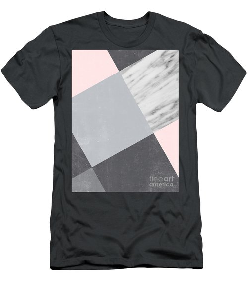 Neutral Collage With Marble Men's T-Shirt (Athletic Fit)