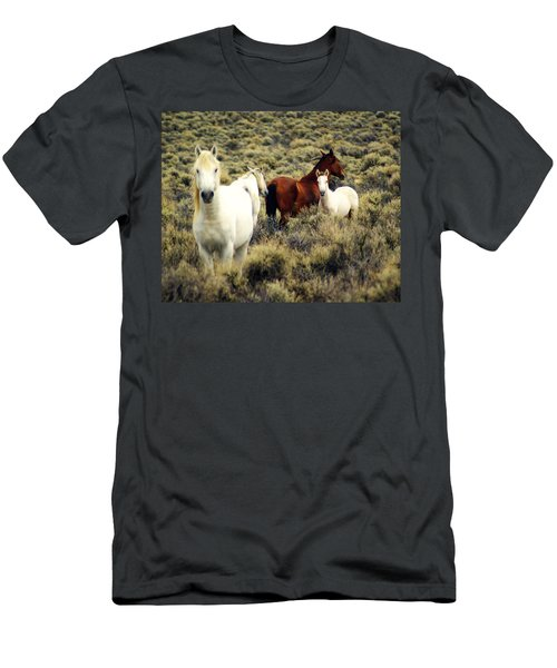 Nevada Wild Horses Men's T-Shirt (Athletic Fit)
