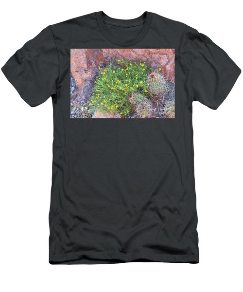 Men's T-Shirt (Slim Fit) featuring the photograph Nevada Yellow Wildflower by Linda Phelps