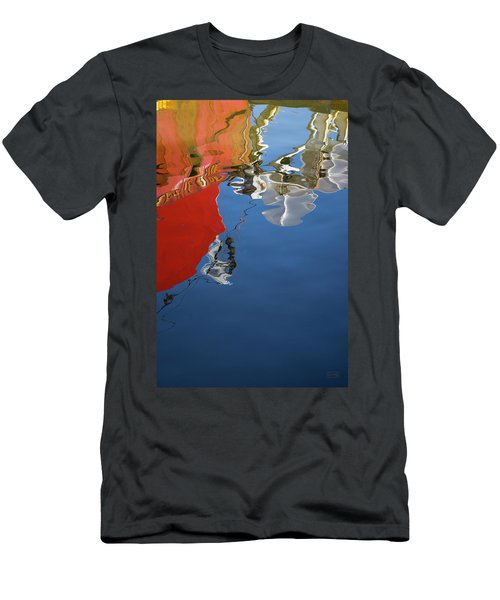 Men's T-Shirt (Athletic Fit) featuring the photograph New Bedford Waterfront Xxviii Color by David Gordon