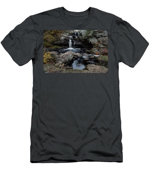 New England Waterfall In Autumn Men's T-Shirt (Athletic Fit)