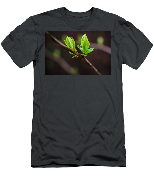New Growth In The Rain Men's T-Shirt (Athletic Fit)