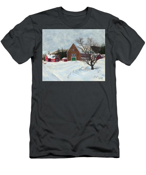 New Hampshire Farm In Winter Men's T-Shirt (Athletic Fit)