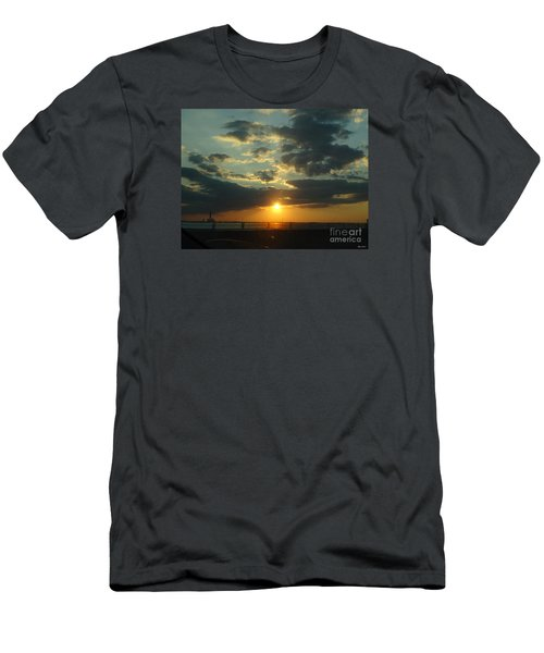 Men's T-Shirt (Slim Fit) featuring the photograph New Horizon by Lyric Lucas