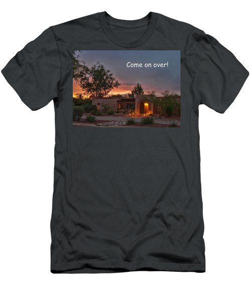 Men's T-Shirt (Athletic Fit) featuring the photograph New Neighbors Card by Dan McManus