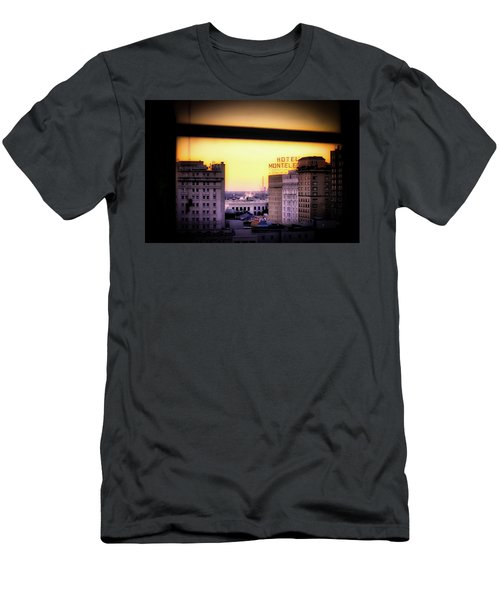 New Orleans Window Sunrise Men's T-Shirt (Athletic Fit)
